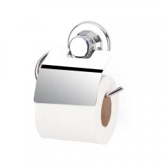 Поставка за тоалетна хартия с капак TEKNO TEL TR DM 238, Вакуум, Инокс
