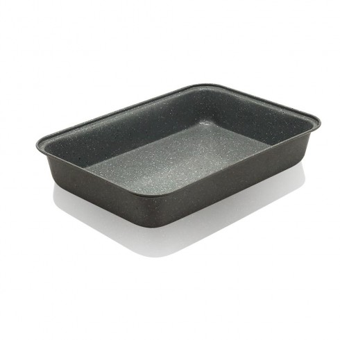 Тава за печене ZEPHYR ZP-1222-OM 32x22x5 см, Мраморно покритие в Тави за печене - ZEPHYR | Alleop