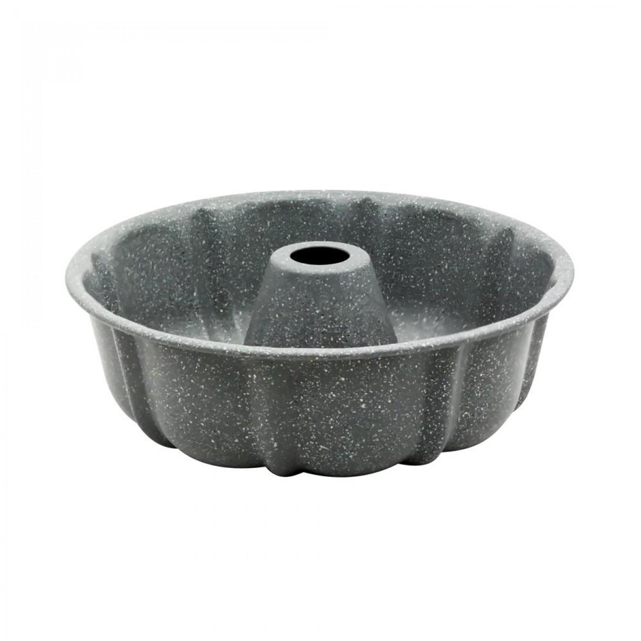 Форма за кекс ZEPHYR ZP 1223 DM, 25.5x8.5 см, Мраморно покритие, Сив в Форми за сладкиши - ZEPHYR | Alleop