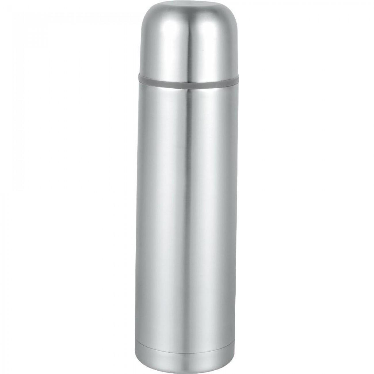 Термос SAPIR SP 2010 B, 1 литър, Включена чантичка, Запушалка, Сребрист в Термоси и термо чаши - SAPIR | Alleop