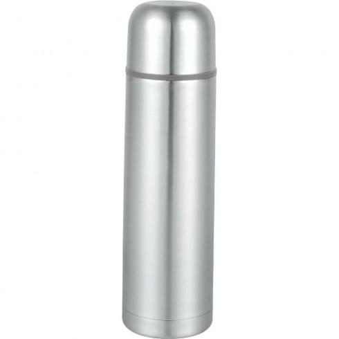 Термос SAPIR SP 2010 B, 1 литър, Кожена чантичка, Запушалка, Сребрист в Термоси и термо чаши - SAPIR | Alleop