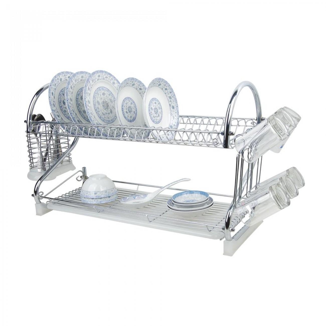 Сушилник за чинии SAPIR SP 3000 F1, Две нива, Поставки за чаши и прибори, Хром в Сушилник за съдове - SAPIR | Alleop