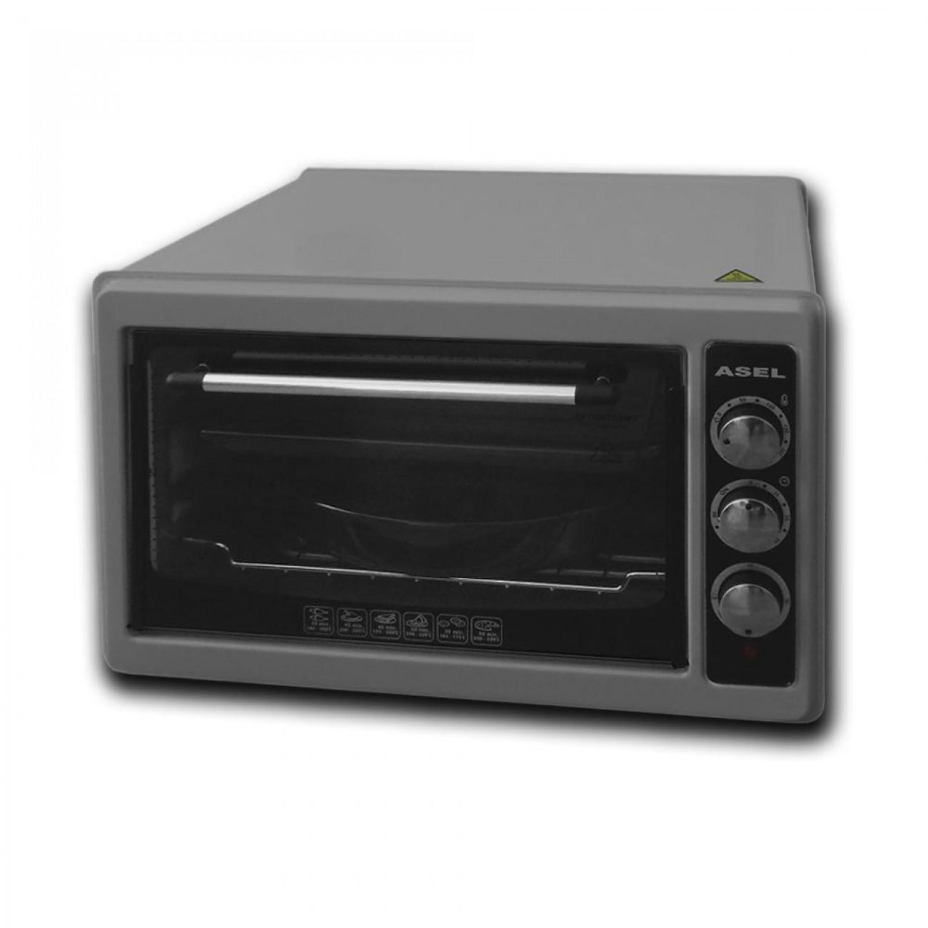 Готварска печка - фурна ASEL AL AF 0023, 1100W, 33 литра, Сив в Готварски печки - ASEL | Alleop