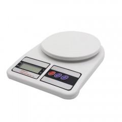 Кухненска електронна везна ESPERANSA ES 1651 E, LCD екран, 7 кг, Бял