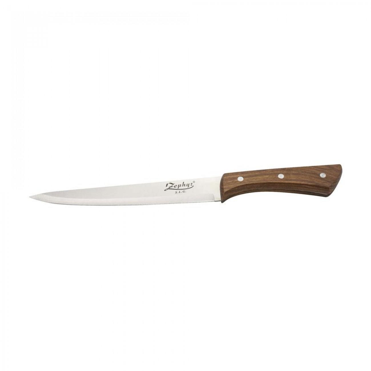 Нож за филетиране, ZEPHYR ZP 1633 BC,  Дървена дръжка в Единични ножове - ZEPHYR | Alleop