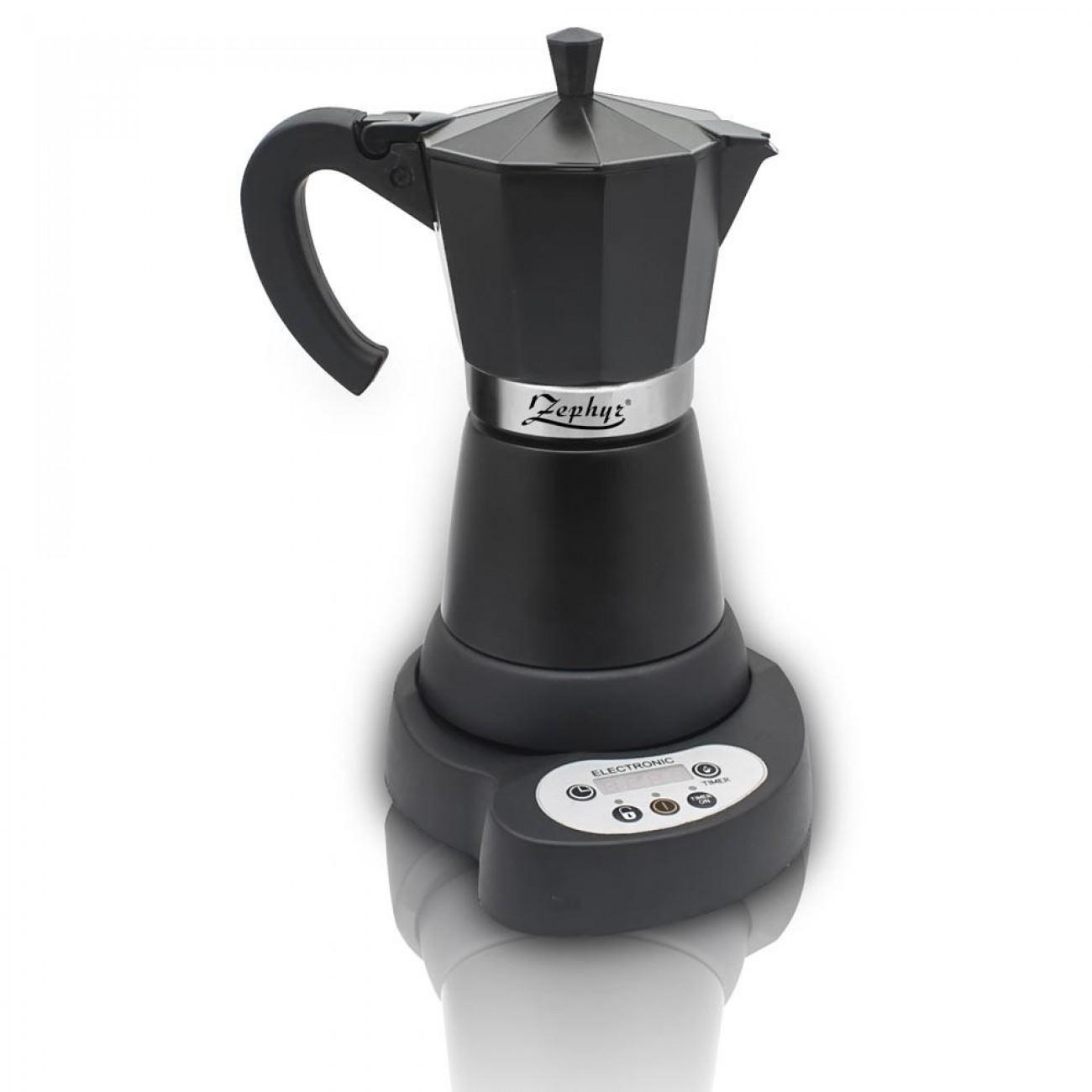 Електрическа кубинска кафеварка ZEPHYR ZP 1175 C6, 480W, Черна в Кафеварки за котлон - ZEPHYR | Alleop