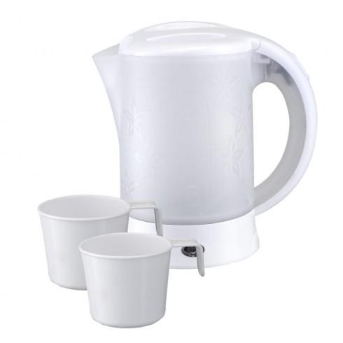 Електрическа кана туристическа SAPIR SP 1230 TC, 600 W, 2 чашки, Бял в Електрически кани - SAPIR | Alleop