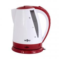 Електрическа кана SAPIR SP 1230 B, 1800W, 1.8 литра, Бял/червен