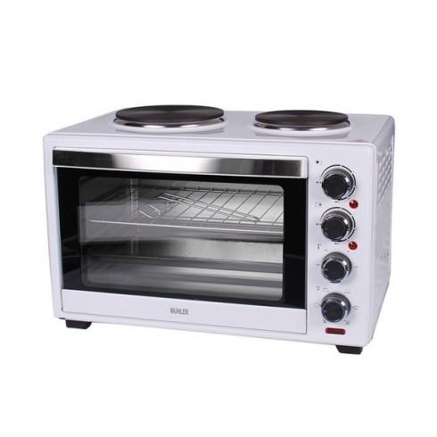 Готварска печка с котлони MUHLER MN-4809, 48 L, 3600W, Вентилатор, Осветление, Бял в Малки готварски печки - MUHLER   Alleop