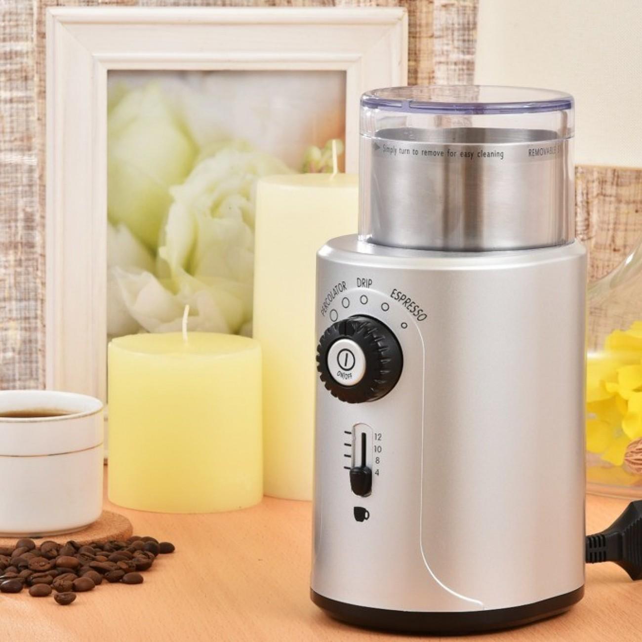 Кафемелачка Rohnson R-942, 70 гр. капацитет, защита от включване без затворен капак, сива