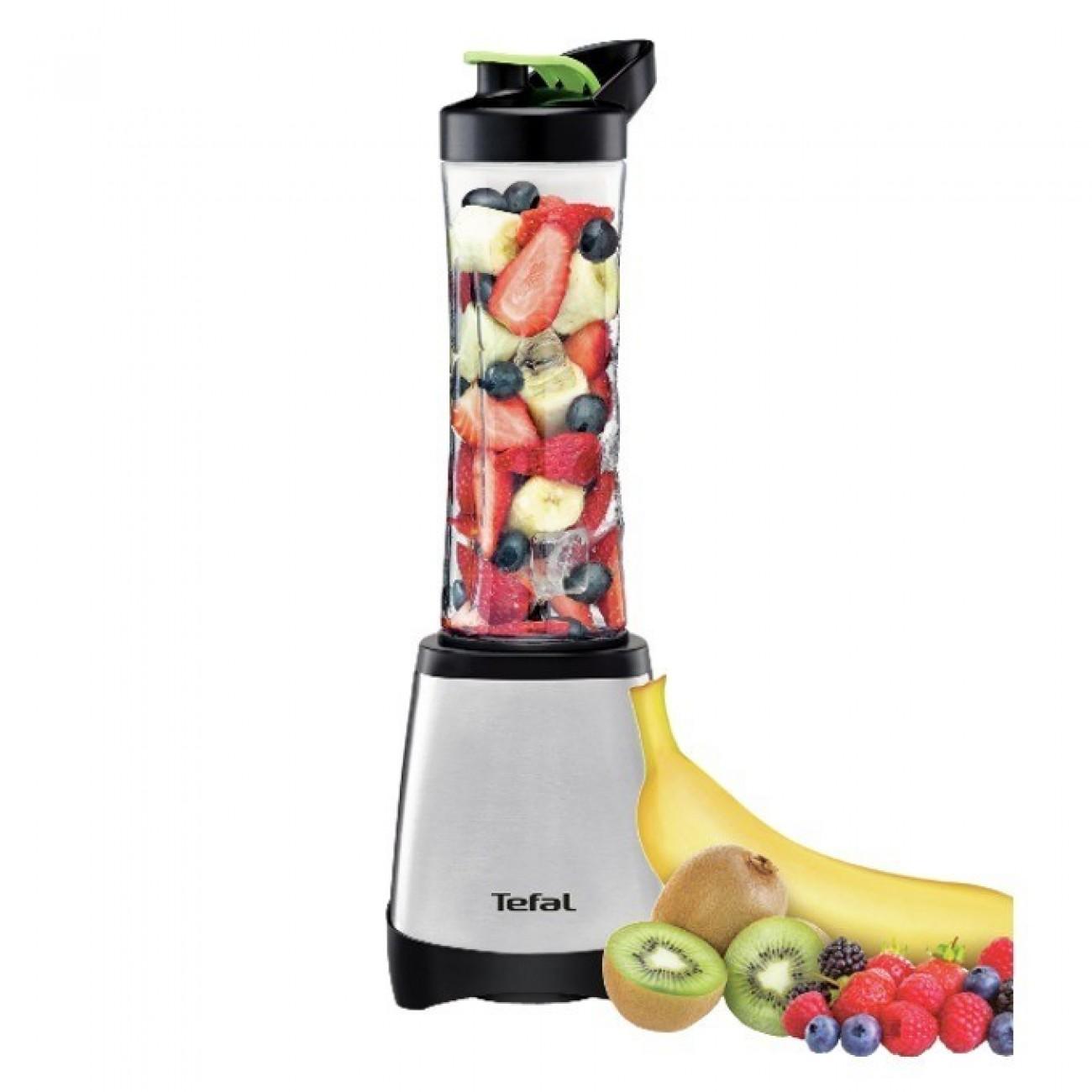 Блендер Tefal BL1A0D38, 0.6 л. обем, 4 сменяеми ножа, възможност за миене в съдомиялна машина, 300W, инокс в Блендери -  | Alleop