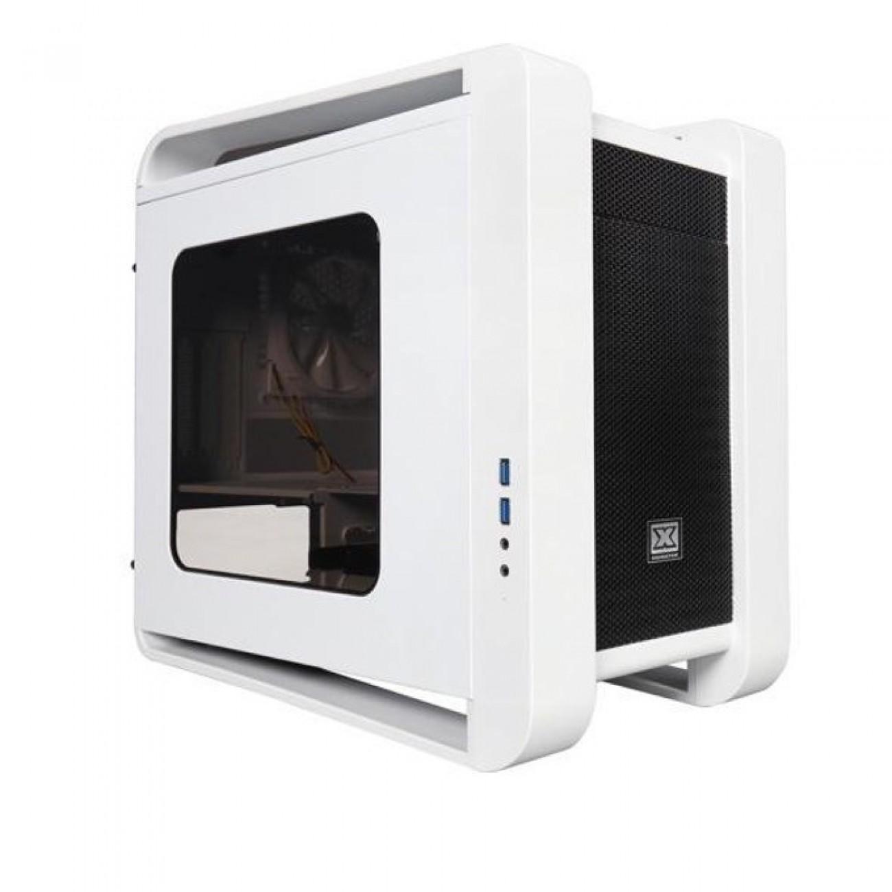 Кутия Xigmatek Aquila White, Mini ITX / Micro ATX, 2x USB 3.0, 1x вентилатор 120mm, 1x LED вентилатор 200м, бяла, без захранване в Компютърни кутии -  | Alleop