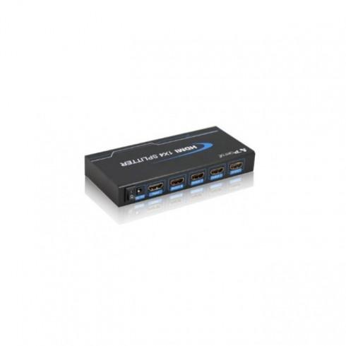 Сплитер DeTech DF18263, 1x HDMI вход към 4x HDMI изхода, 3D, Full HD в KVM сплитери и превключватели -  | Alleop