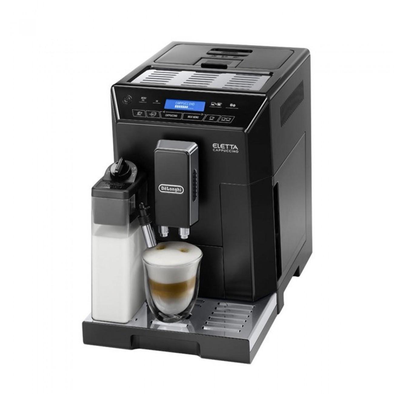 Автоматична еспресо машина Delonghi ECAM ELLETA 44.660 B, 1450 W, 15 bar налягане, дисплей, автоматично почистване, черна в Кафемашини -  | Alleop