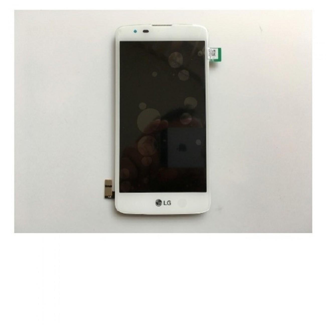 Дисплей за LG K8 (K350N), с тъч, бял, оригинален в Резервни части -  | Alleop