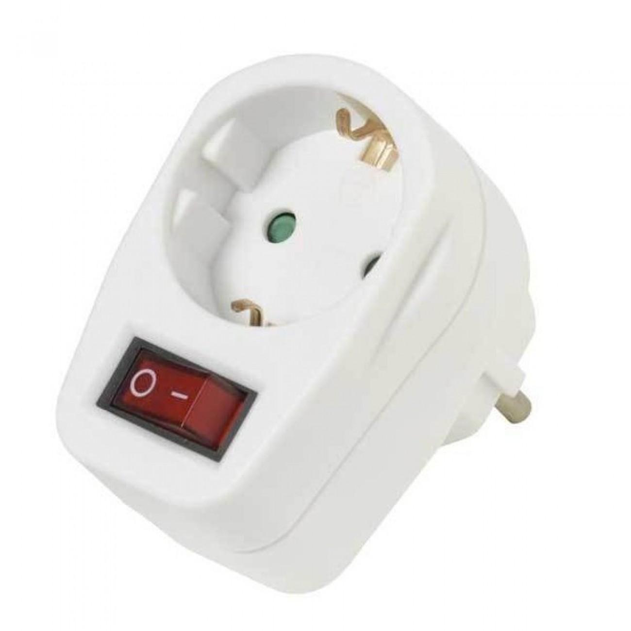 Адаптер Vivanco 22396, защита от деца, с ключ, бял в Разклонители -  | Alleop