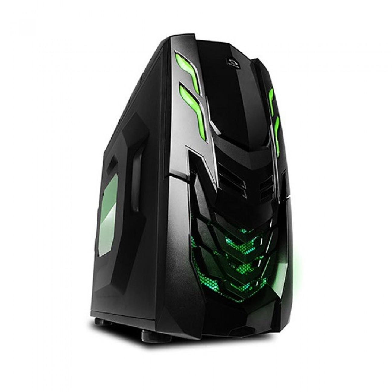 Кутия Raidmax VIPER GX, ATX/Micro ATX, 2x USB3.0, черна/зелена, без захранване в Компютърни кутии -  | Alleop