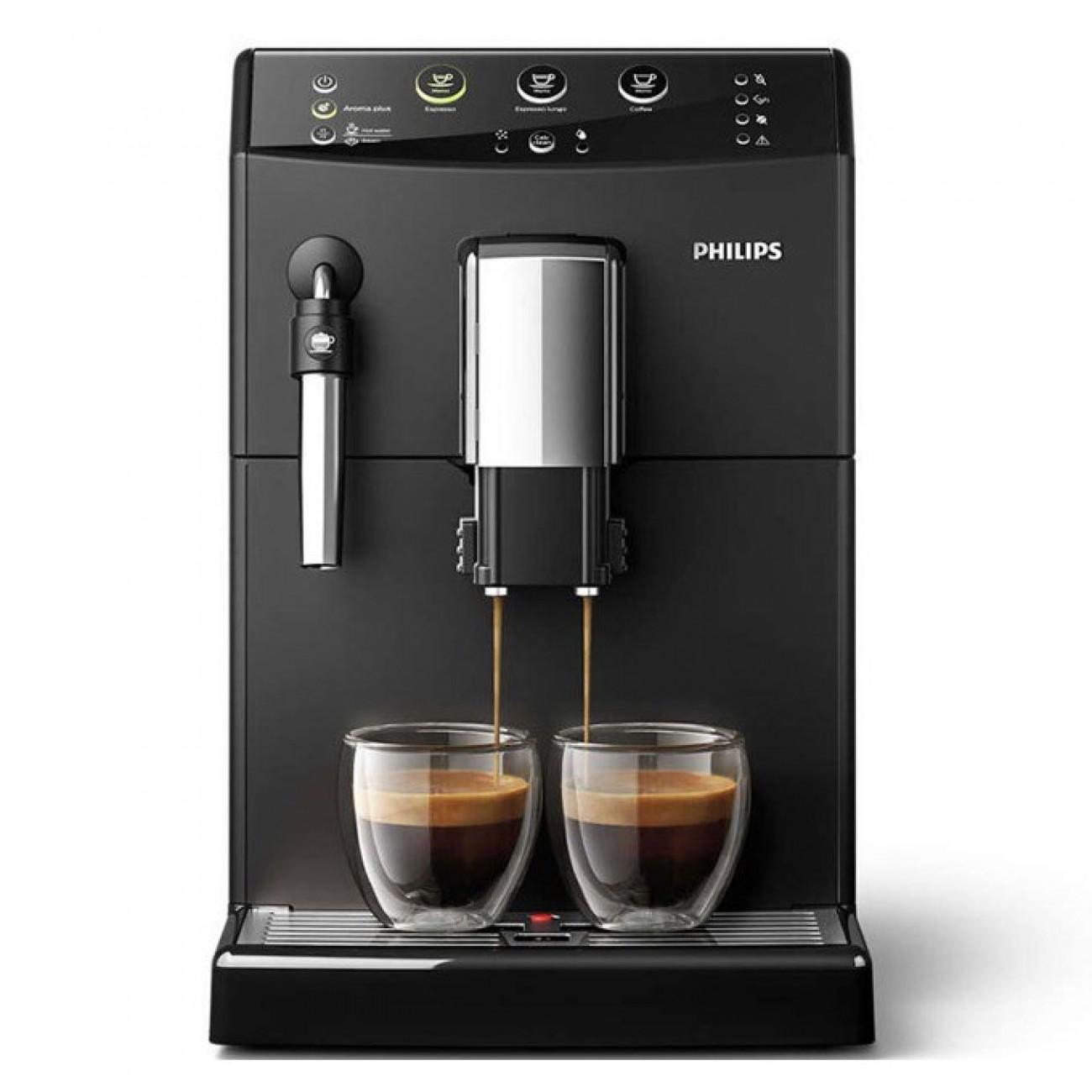 Автоматична еспресо машина Philips HD 8827 / 09, 1850W, 15 bar налягане, керамични мелачки за кафе, Aroma Plus, черна в Кафемашини -  | Alleop