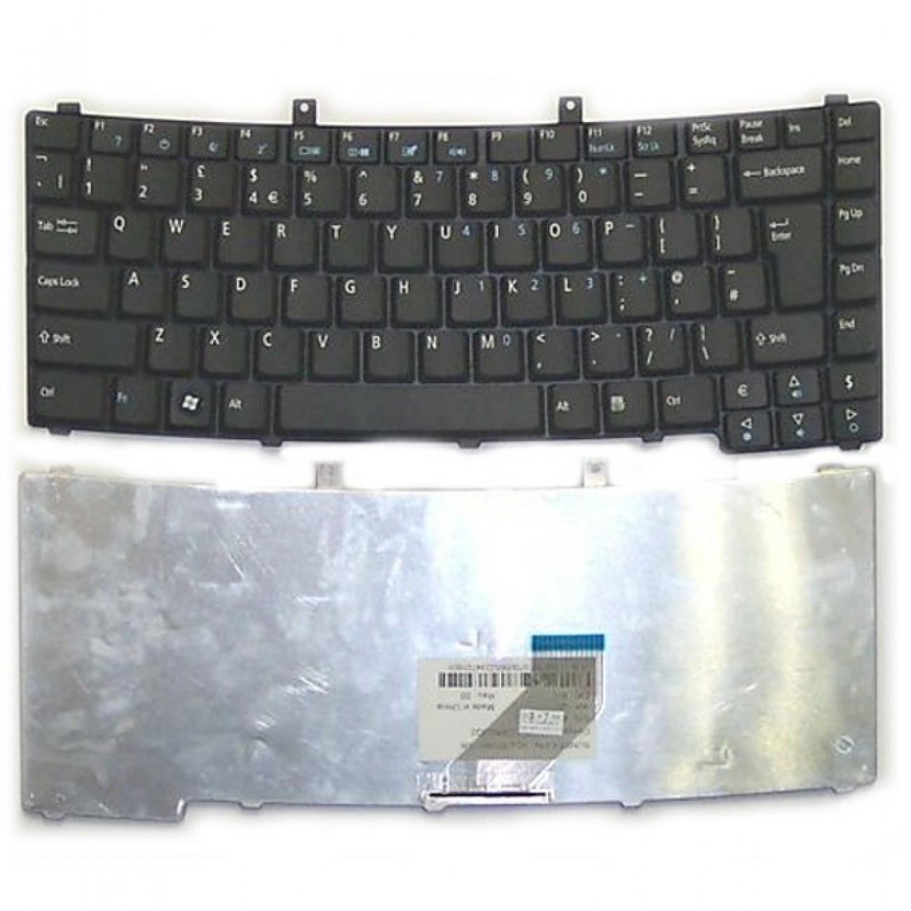 Клавиатура за лаптоп Acer, съвместима със серия TravelMate 2200 2490 3210 4230, черна, US/UK в Резервни части -  | Alleop