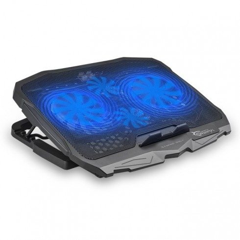 Охлаждаща поставка за лаптоп White Shark CP-25 ICE WARIOR, за лаптопи до 17.3(43.9cm), 1500 rpm, 2x вентилатора, USB 2.0 Type A, черна в Лаптоп Охладители -  | Alleop