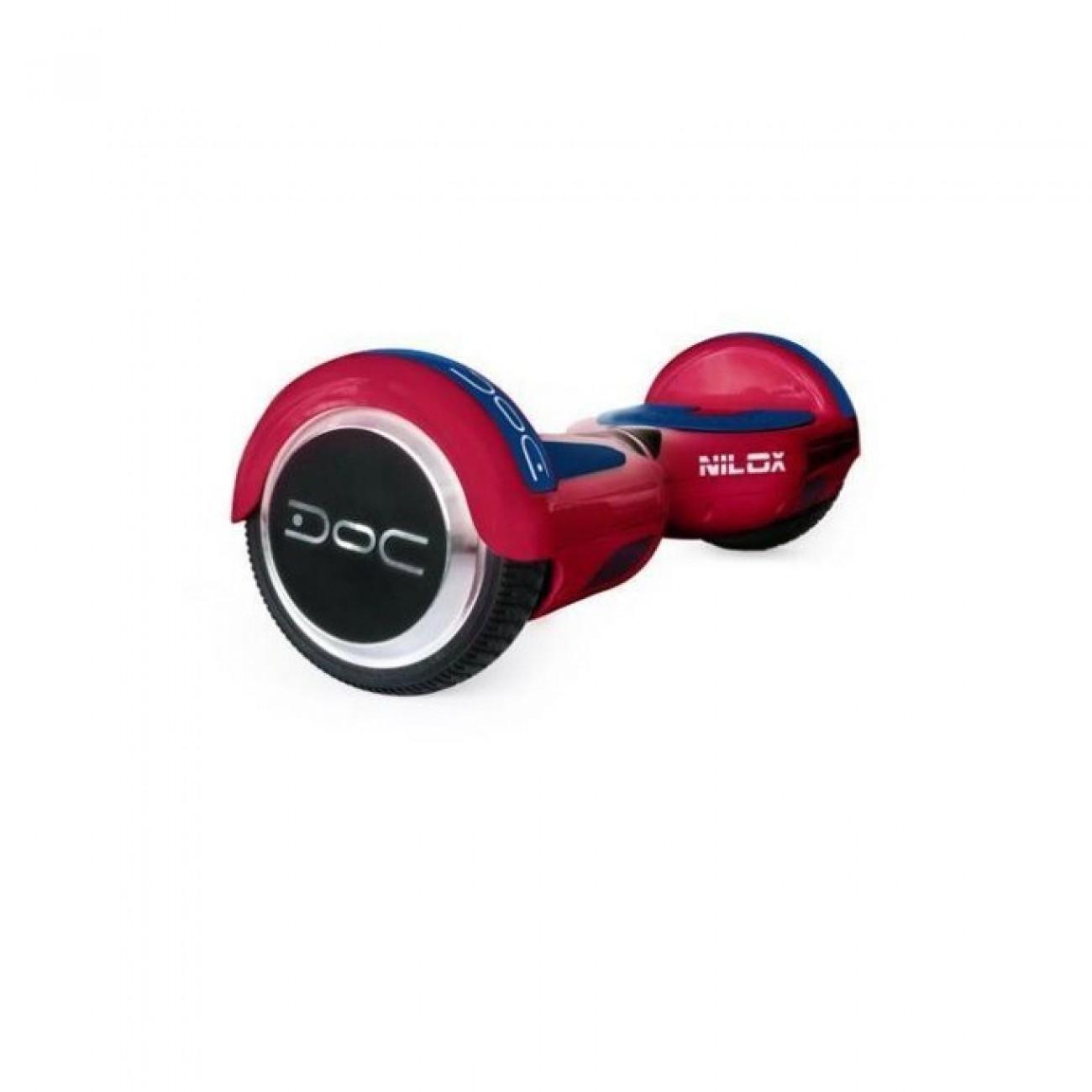 Ховърборд Nilox DOC Red, до 10км/ч скорост, 20км макс. пробег, до 100кг, 2x 240W двигатели, червен в Електрически превозни средства -  | Alleop