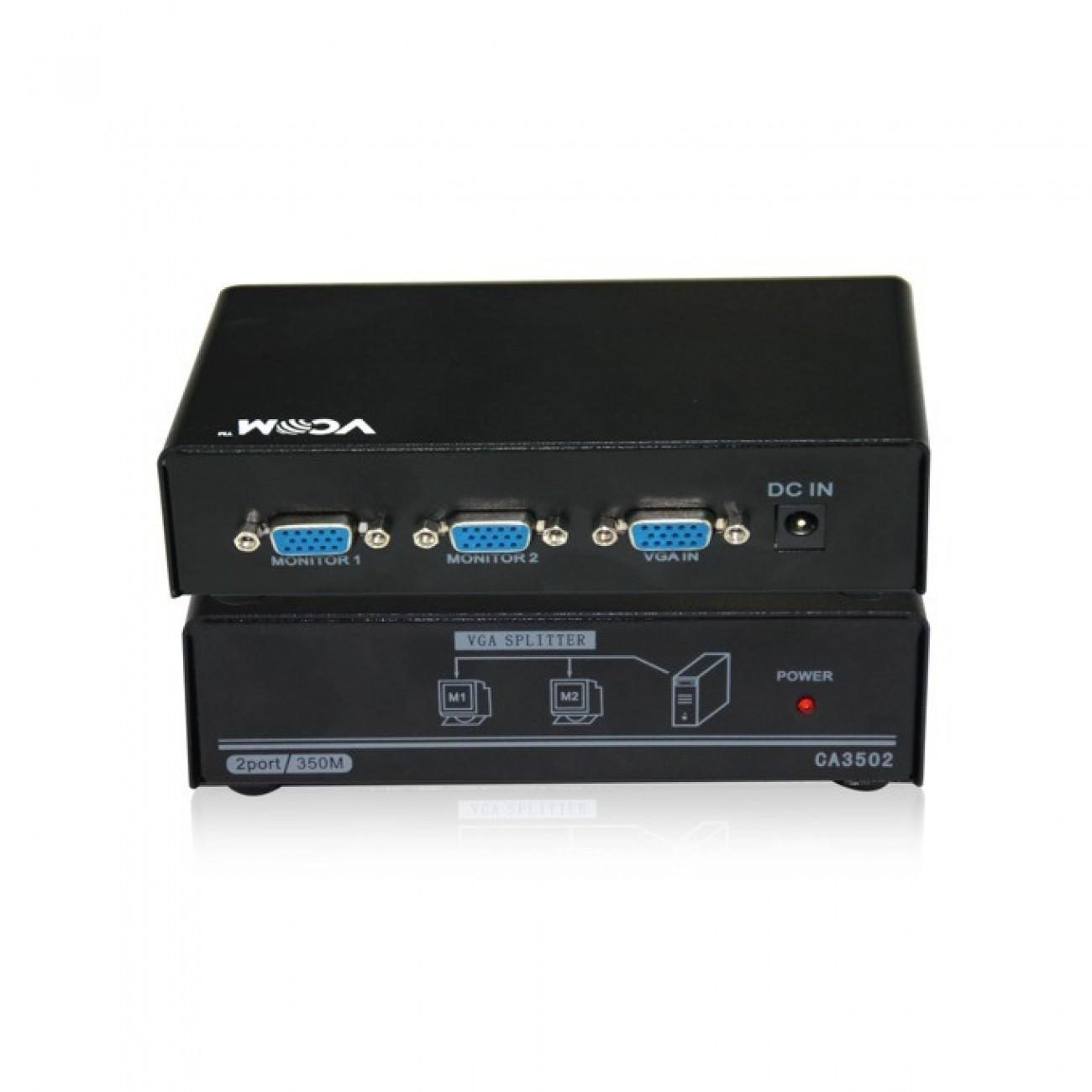 Сплитер VCom DD132, 1x D-Sub вход към 2x D-Sub изхода в KVM сплитери и превключватели -  | Alleop