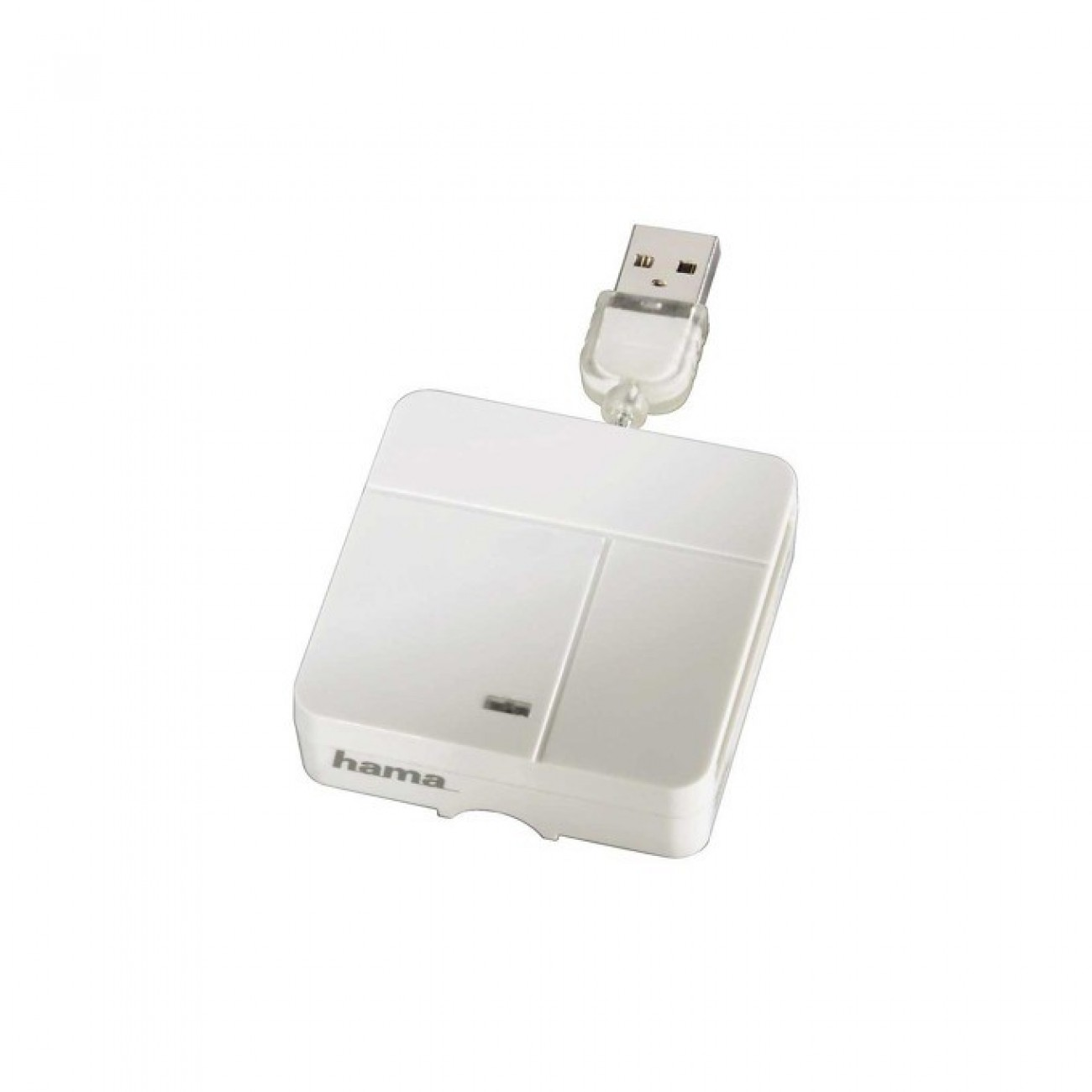 Card Reader HAMA All in One (94125), USB, бял в Четци за карти -  | Alleop