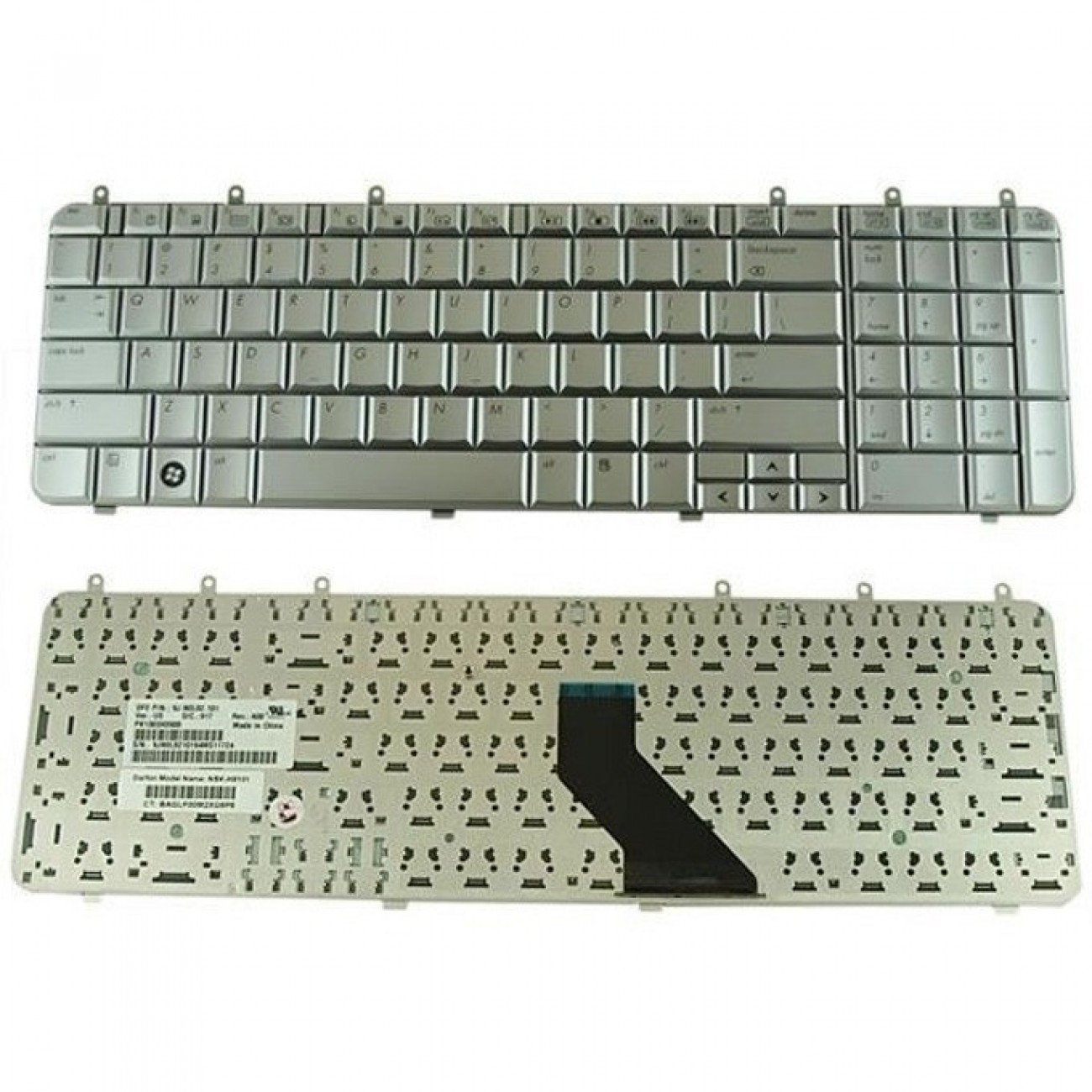 Клавиатура за HP Pavilion DV7 DV7-1000, UK, сребриста в Резервни части -    Alleop