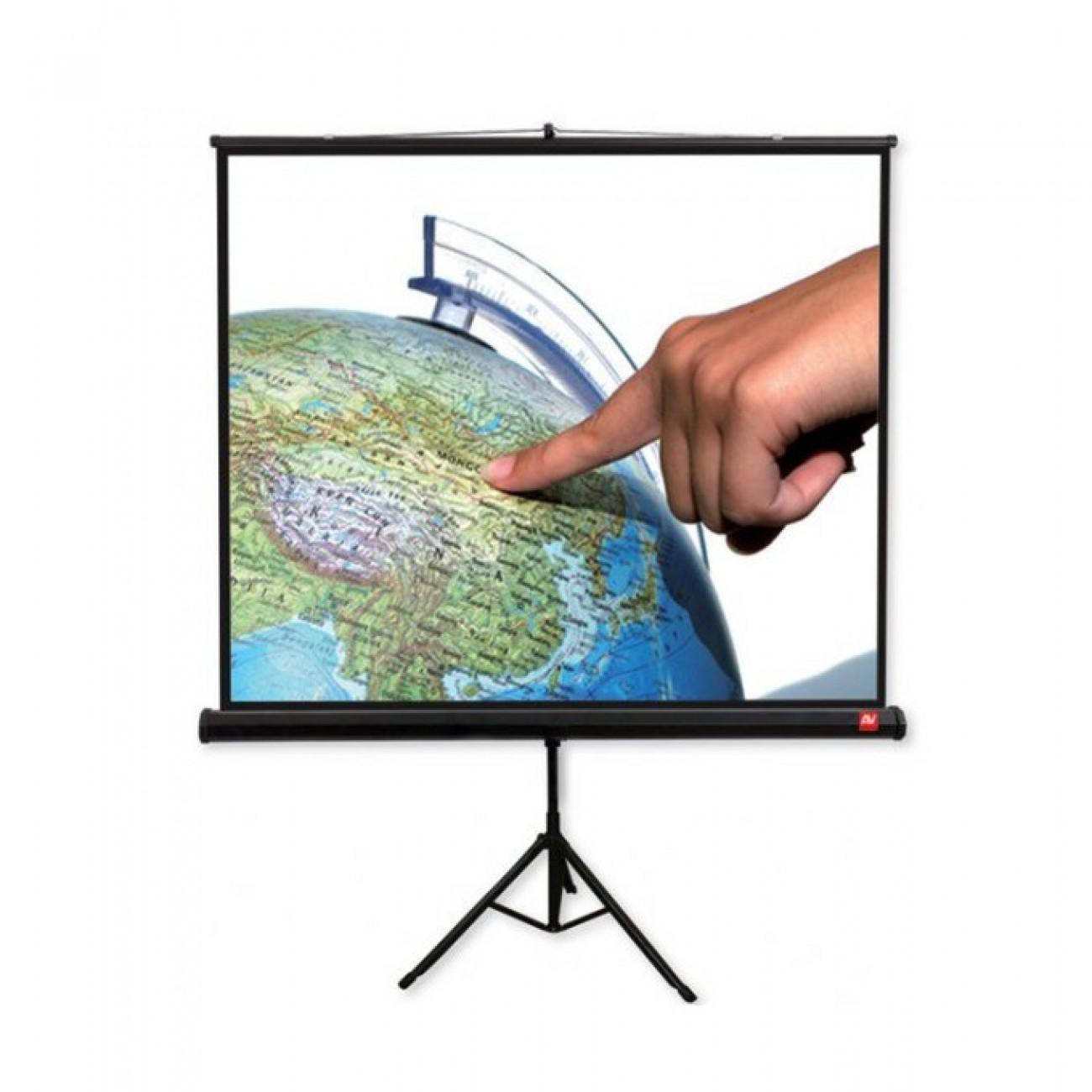 Екран Avtek Tripod Standard 200, преносим сгъваем трипод, Matt White, 200х200см, 111, 1:1, универсален в Екрани за проектори -    Alleop