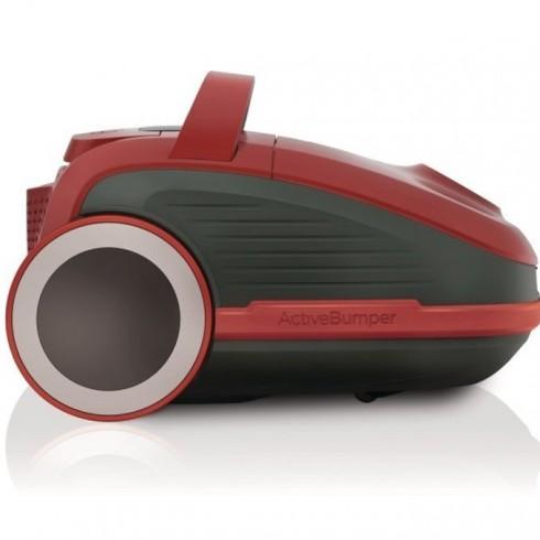 Прахосмукачка Gorenje VCEA21GPRRCY, без торба, клас А, HEPA филтър, 700W, сензорно управление, червена в Прахосмукачки -  | Alleop