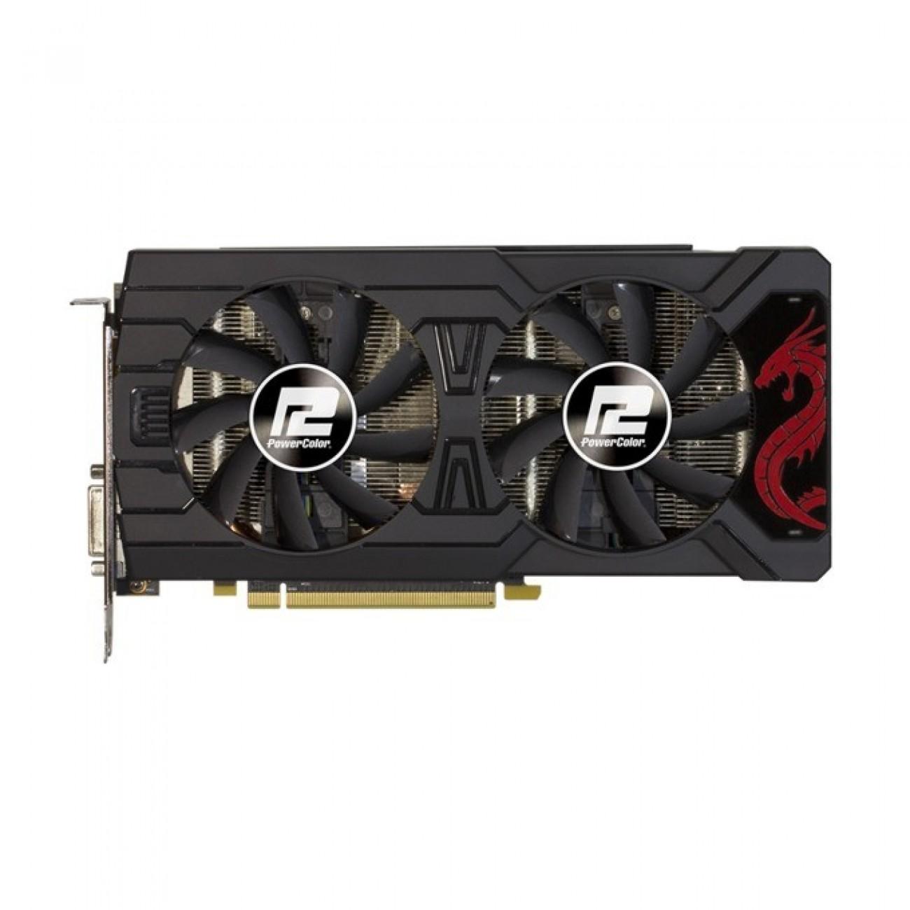 Видео карта AMD Radeon RX 580, 8GB, PowerColor Red Dragon Radeon RX 580, PCI-E 3.0, GDDR5, 256 bit, 3x Display Port, HDMI, DVI в Видео карти -  | Alleop