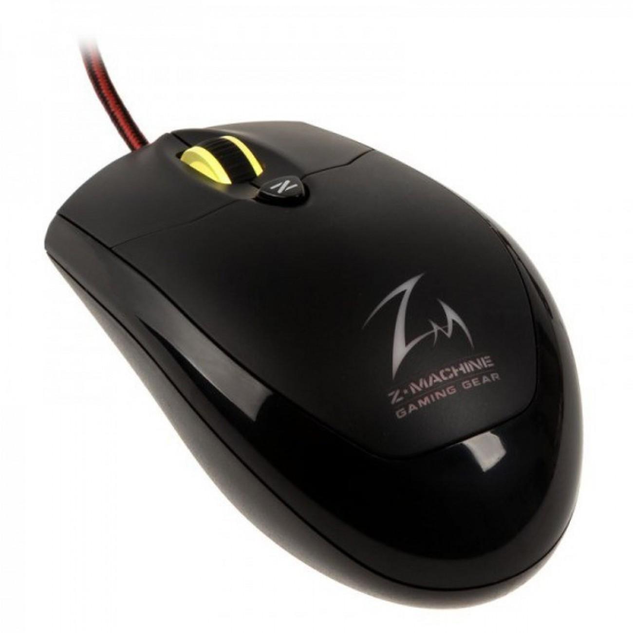 Мишка Zalman M600R, гейминг, оптична (4000 dpi), USB, подсветка, черна в Мишки -    Alleop