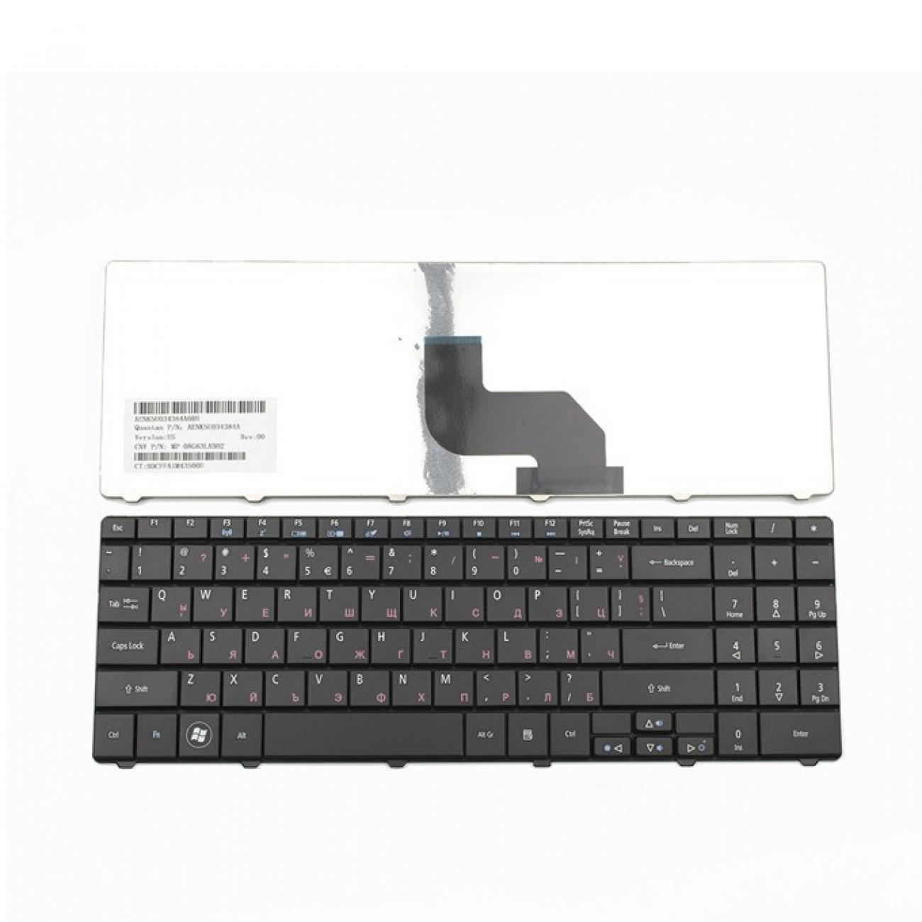 Клавиатура за Acer Aspire 5516 5517 7715Z eMachines E430 E525 E625 E627 E628, US, кирилица, черна в Резервни части -  | Alleop