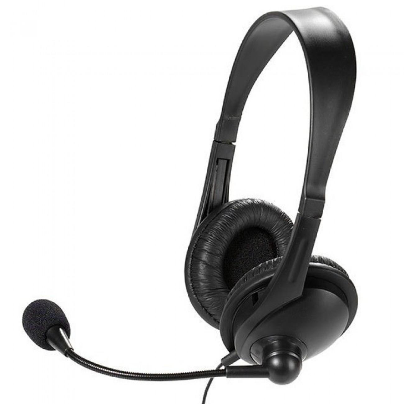 Слушалки Vivanco 36671, микрофон, контрол на звука, 3.5мм жак, черни в Слушалки -  | Alleop