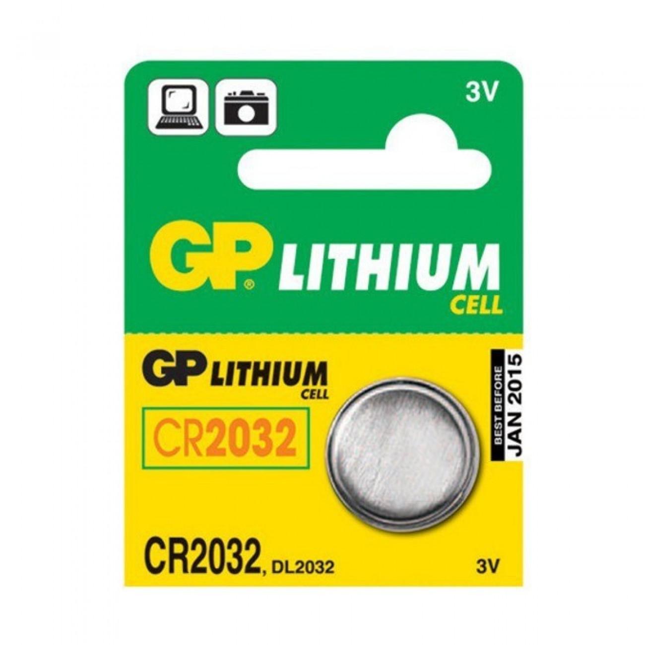 Батерия литиева GP CR2032, 3V, 5 бр. в опаковка цена за 1бр. в Стандартни Еднократни батерии -  | Alleop