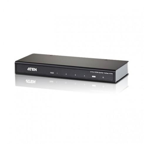 HDMI Splitter ATEN VS184A, от 1x HDMI(ж) към 4x HDMI(ж), до 15м, до Ultra HD резолюция, 3D поддръжка, 1 устройство в KVM сплитери и превключватели -    Alleop