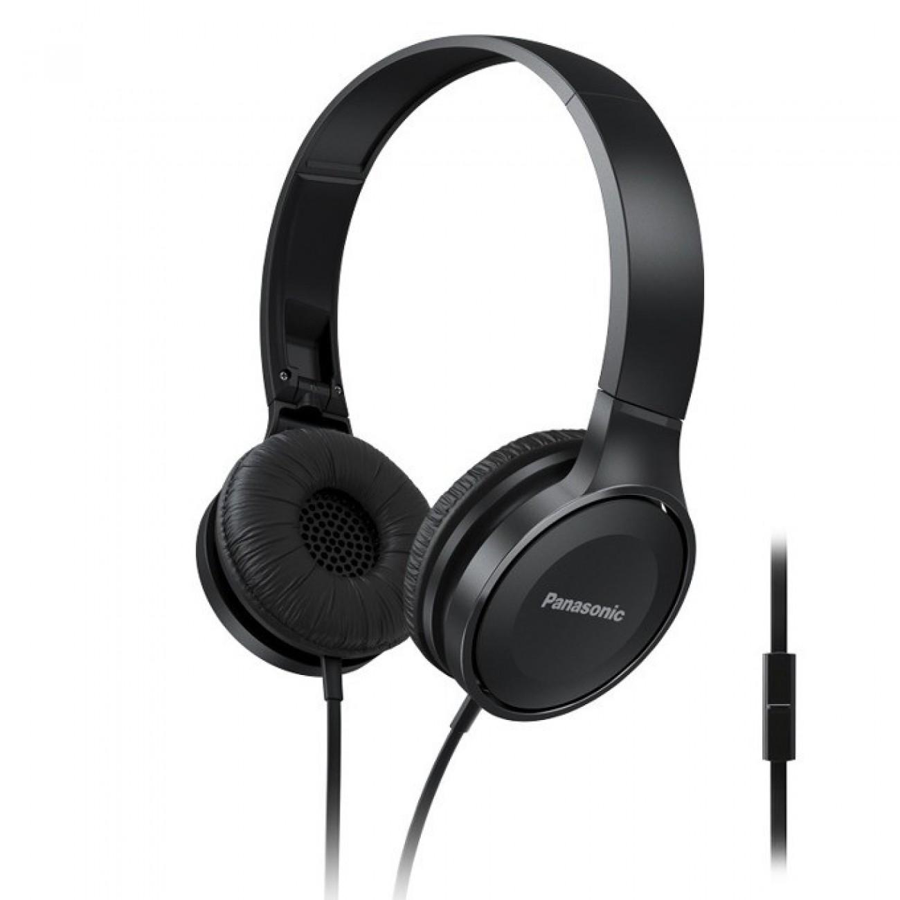 Слушалки Panasonic RP-HF100ME-K, микрофон, черни в Слушалки -  | Alleop
