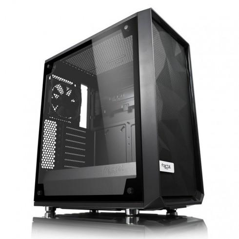 Кутия FractalDesign MESHIFY C BLACKOUT TGL, ATX/mATX, прозорец със закалено стъкло, бяла, без захранване в Компютърни кутии -  | Alleop