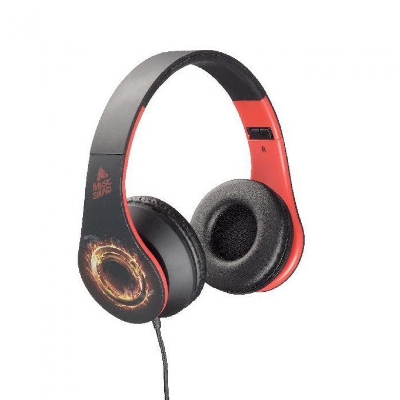 Слушалки Music Sound Art 5, 20-20,000Hz, 3.5мм жак, сгъваеми, черни в Слушалки -  | Alleop