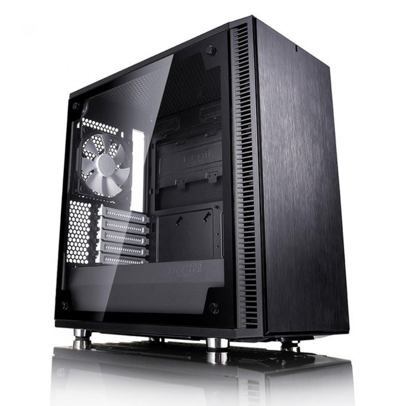 Кутия Fractal Design Define Mini C TG, mATX/ITX, прозорец, черна, без захранване в Компютърни кутии -    Alleop
