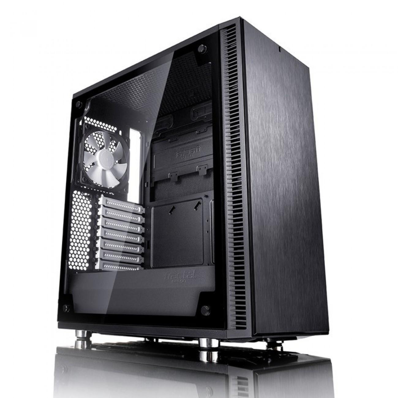 Кутия Fractal Design Define C TG, ATX/mATX/ITX, прозорец, черна, без захранване в Компютърни кутии -  | Alleop