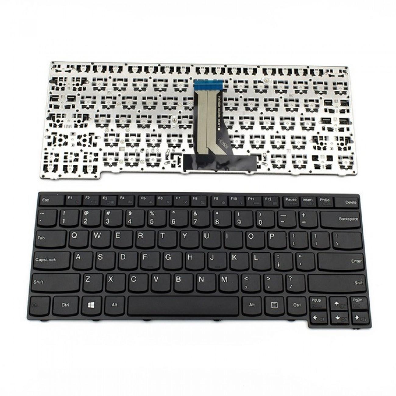 Клавиатура за Lenovo E40-30/E40-45/E40-70/E40-80/E40-81/E41-70, US, с рамка, черна в Резервни части -  | Alleop