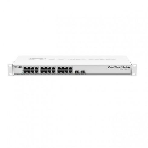 MikroTik Cloud Smart Switch CSS326-24G-2S + RM, 24x 10/100/1000 Enthernet LAN, 2x SFP+, PoE в Суич -  | Alleop