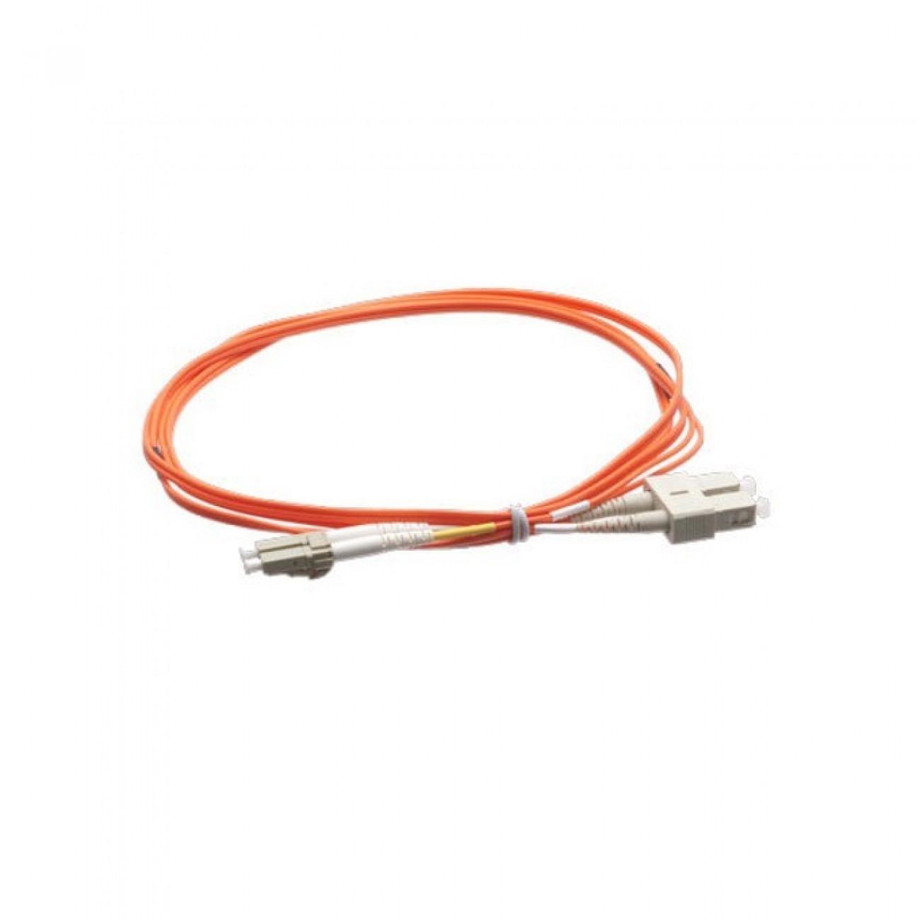 Оптичен пач кабел, LC(м) към SC(м), 50/125, мулти мод, 2m в Свързващи пач оптични кабели -  | Alleop
