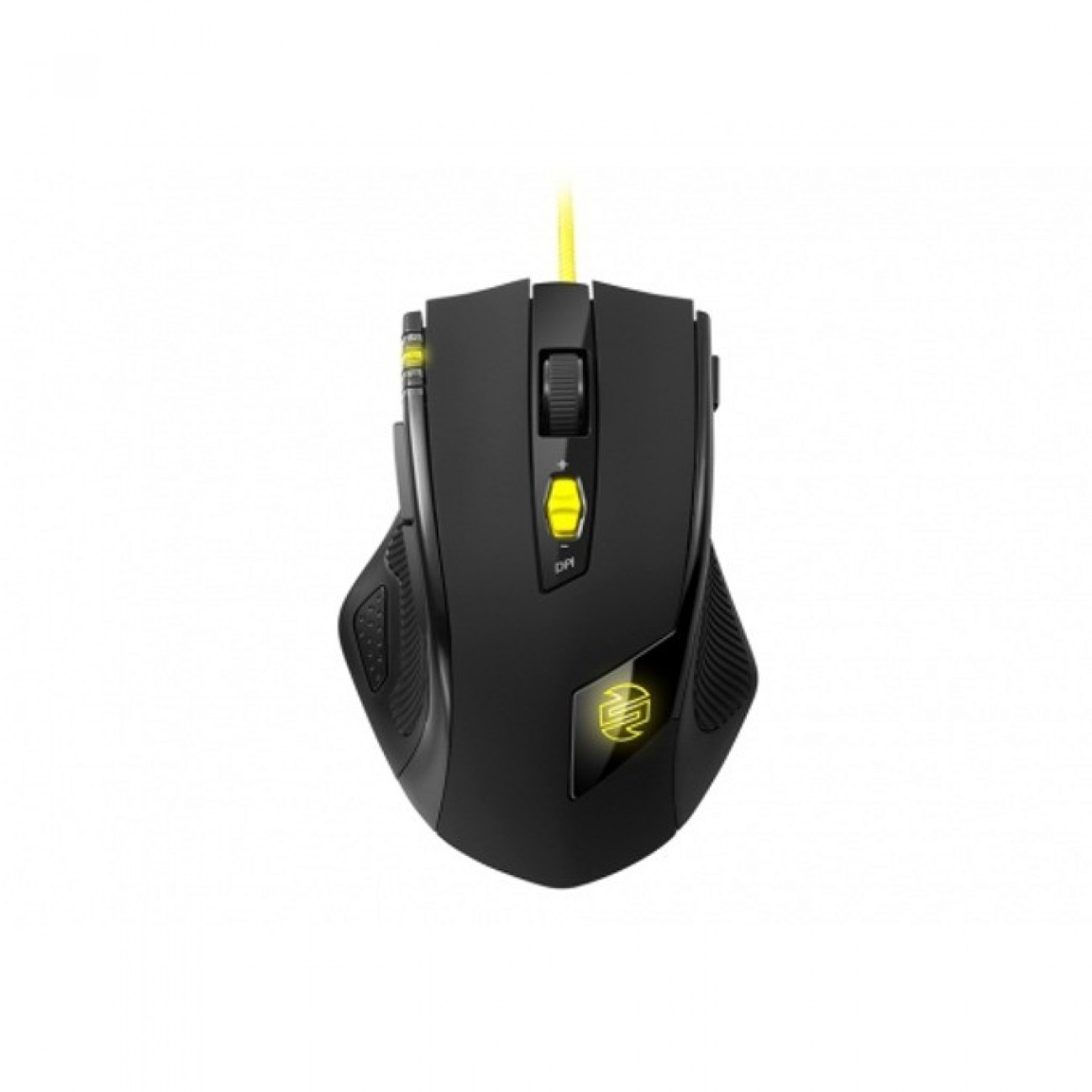 Мишка Sharkoon SHARK Zone M51+, оптична (8200dpi), 11 бутона, USB, черна с жълти части в Мишки -  | Alleop