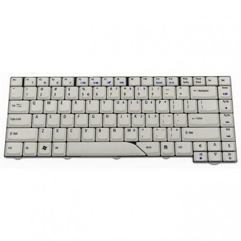 Клавиатура за лаптоп Acer, съвместима със серия Aspire 4430 4710 4720 4730, сива, US/UK, с кирилица в Резервни части -  | Alleop