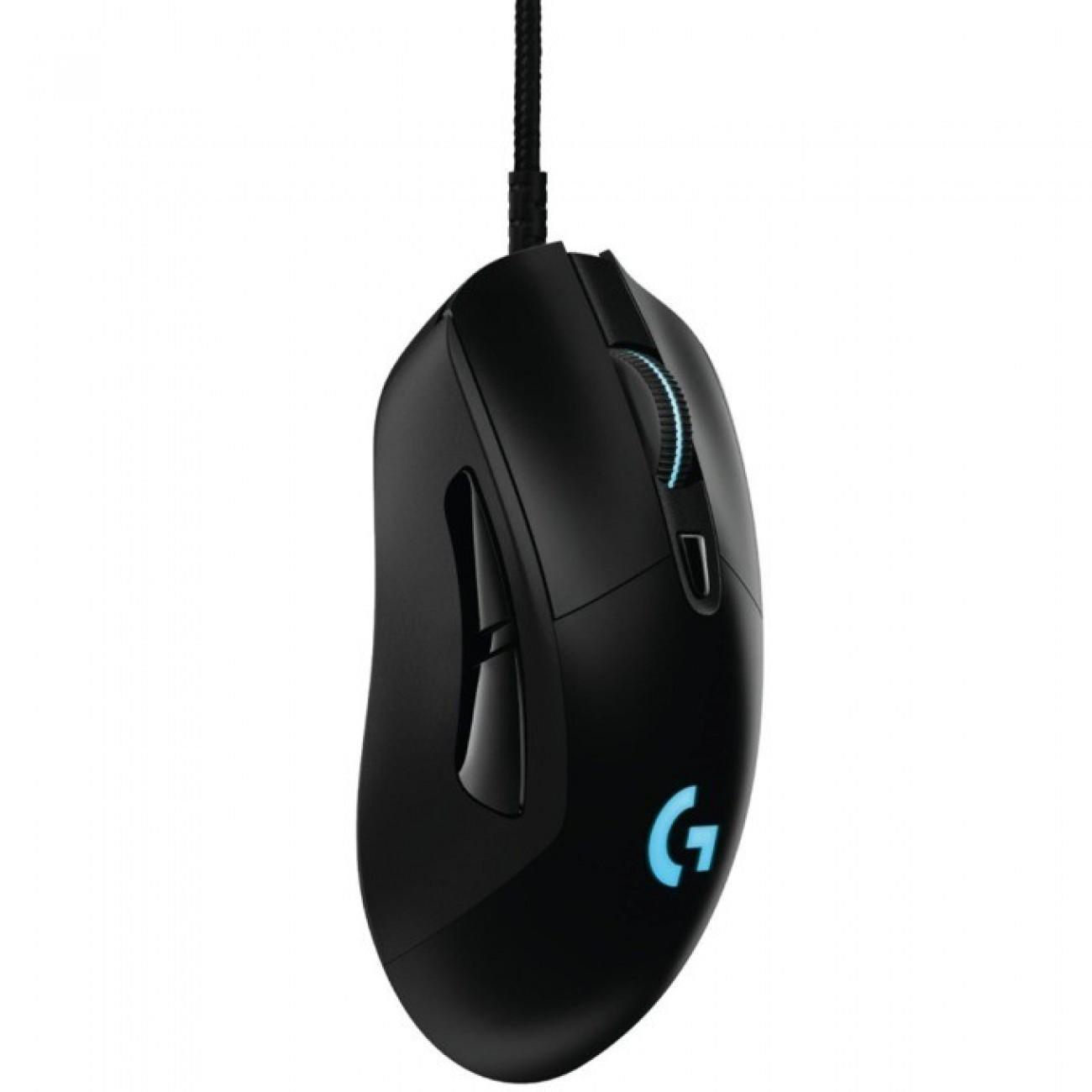 Мишка Logitech G403, оптична (12000 dpi), USB, черна, гeйминг, програмируема RGB подсветка, за дясна ръка в Мишки -  | Alleop