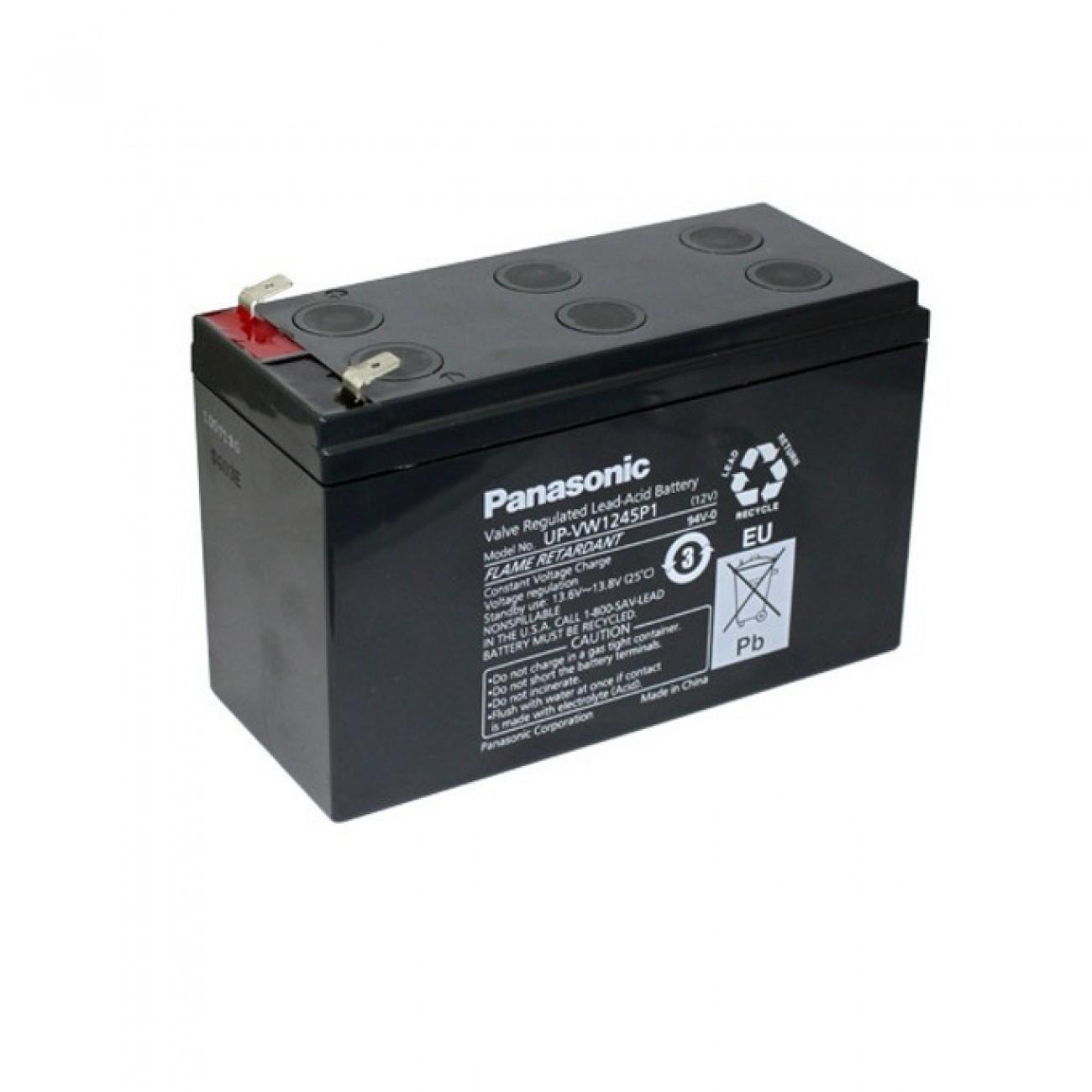 Акумулаторна батерия Panasonic 12V, 7.8Ah, 6-9 години живот в Акумулатори -  | Alleop