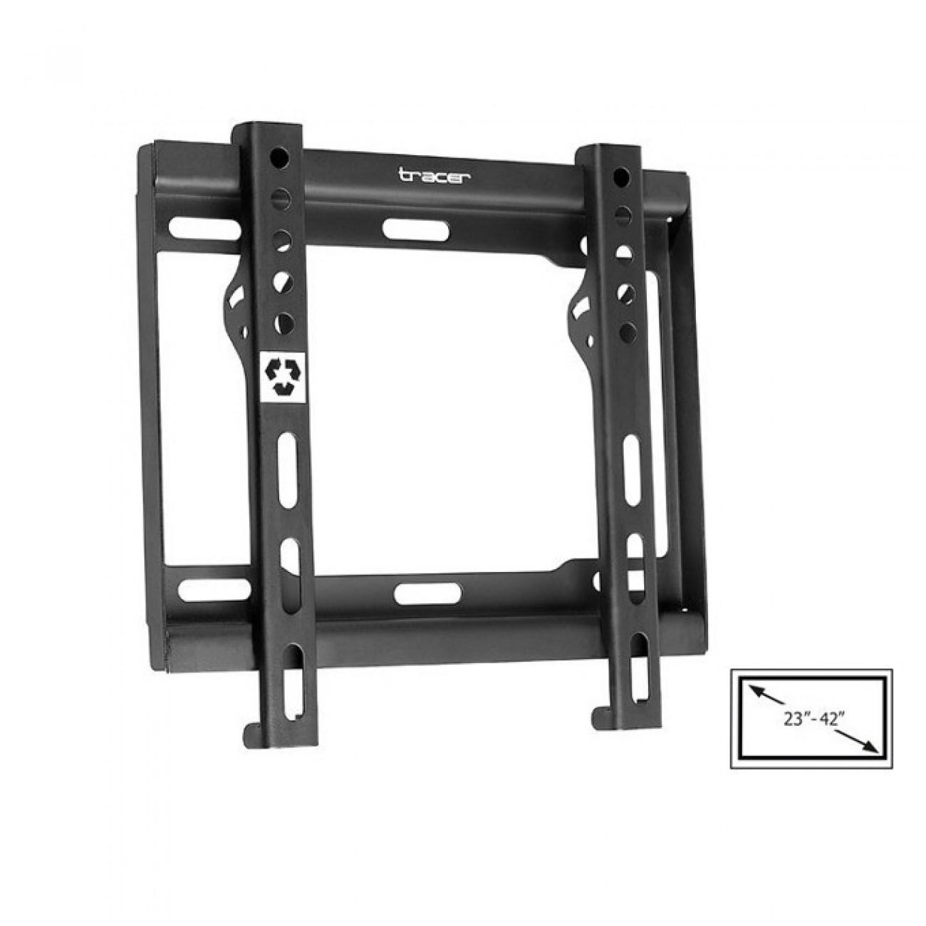 Стойка за TV Tracer Wall 888, за екрани от 23до 42 макс. тегло до 40 кг, черна в Стойки за TV, Монитори -  | Alleop