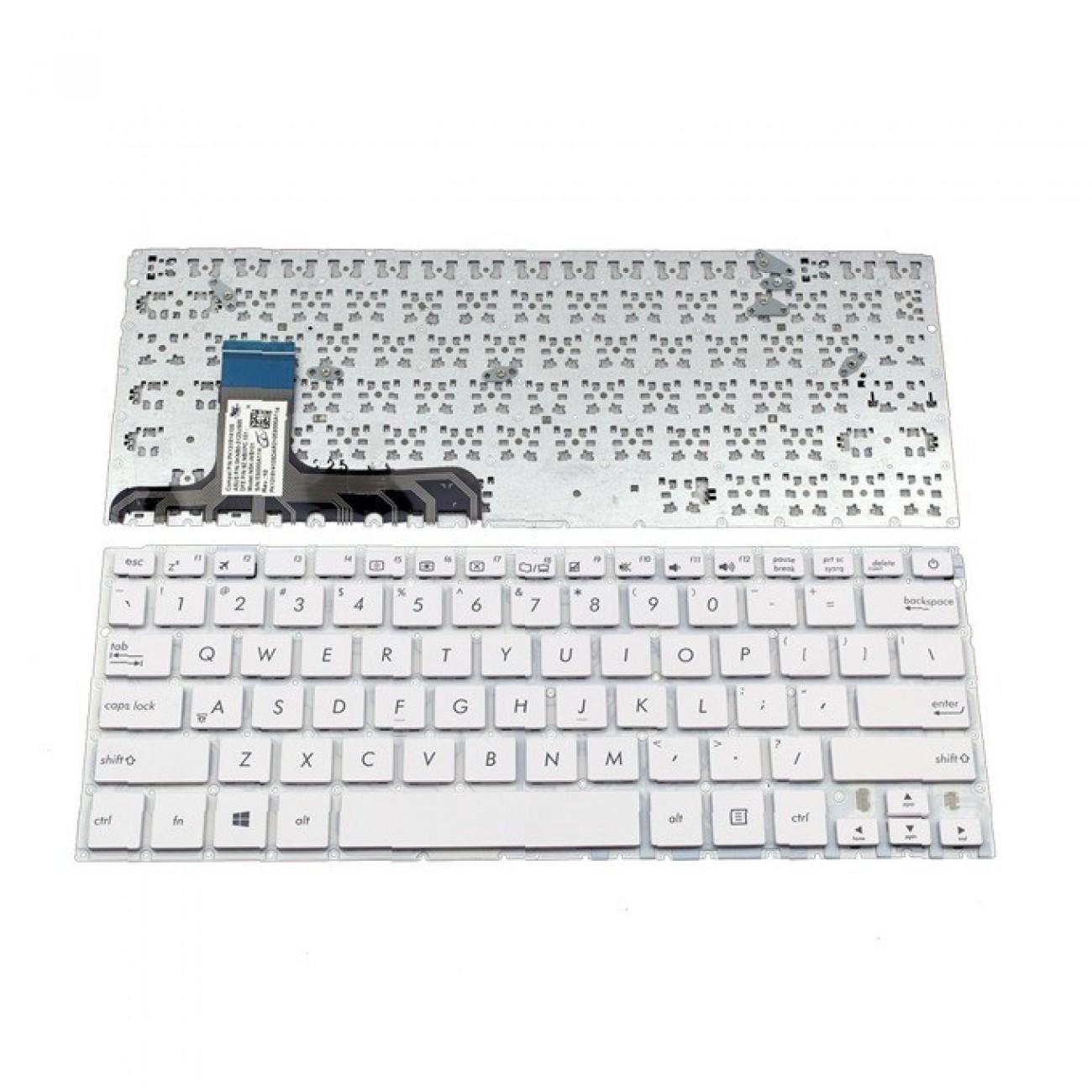 Клавиатура за Asus ZENBOOK UX305, US, без рамка, бяла в Резервни части -  | Alleop